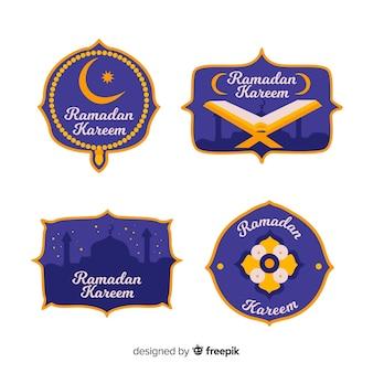 美しいラマダンラベルコレクション