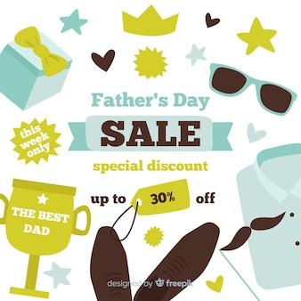 創造的な父親の日セールの背景