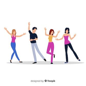 若い人たちが踊ります。ダンスクラスパーティー