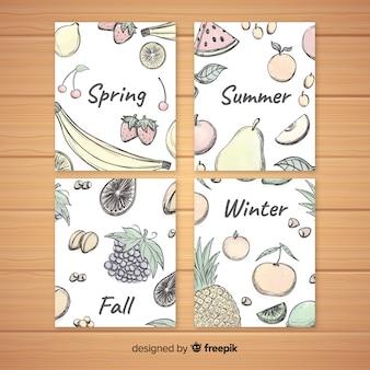 Сезонные фруктовые фоны