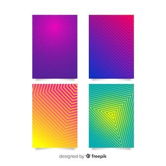 カラフルな幾何学線カバーコレクション