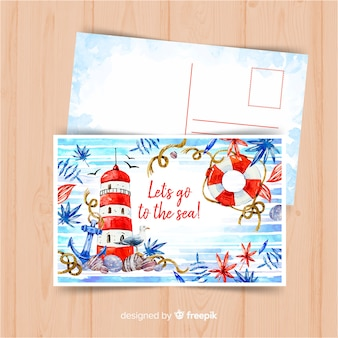 Акварель летняя праздничная открытка