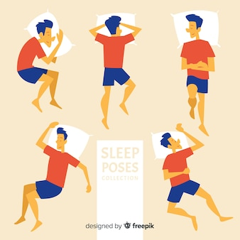 フラット睡眠ポーズコレクション