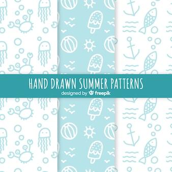 手描き夏パターンコレクション