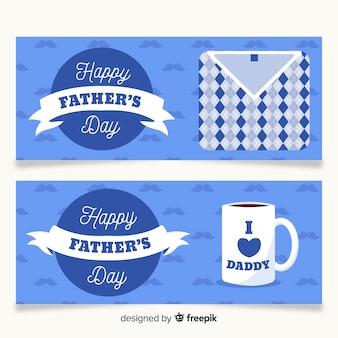 Плоские баннеры на день отца