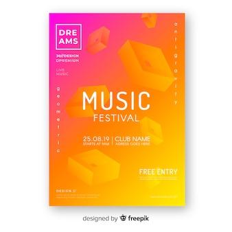 抽象音楽祭ポスター