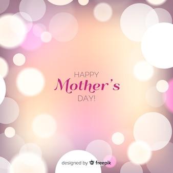 美しい幸せな母の日グリーティングカード