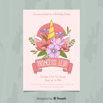 Приглашение на вечеринку милой принцессы