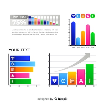 棒グラフのインフォグラフィック