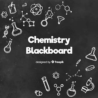 黒板に化学