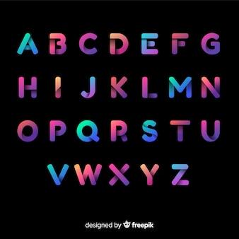 Красочная градиентная типография