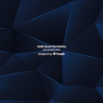 Темно-синий фон многоугольной