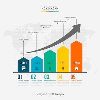 Гистограмма инфографики