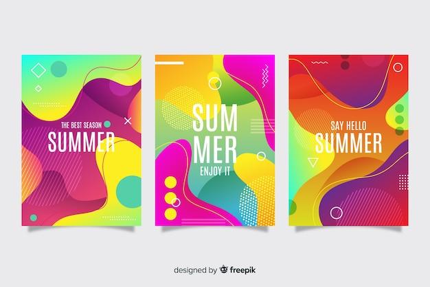 抽象的な夏カバーコレクション