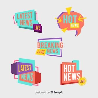 Красочные баннеры последних новостей