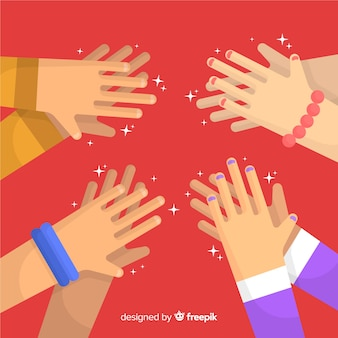 Плоские руки аплодируют фон