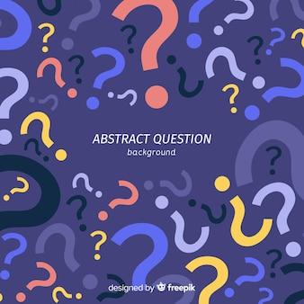 Плоский абстрактный вопрос шаблон фона