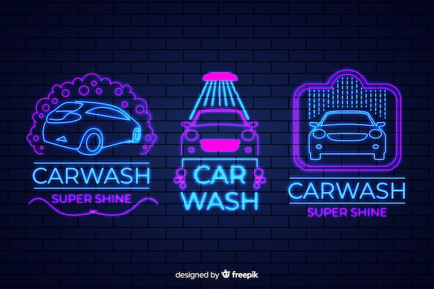 ネオン洗車サインパック