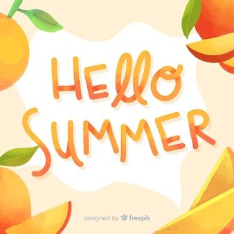 Надпись привет лето