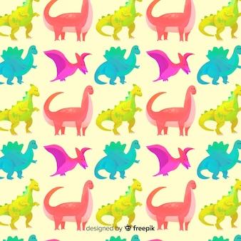Акварельный рисунок динозавра