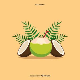 手描きのココナッツの背景