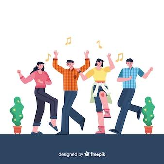 若い人たちが踊ります。キャラクターデザイン