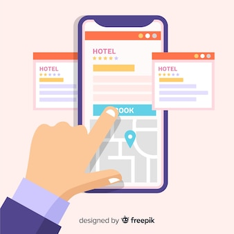 Фоновая заявка на бронирование отеля
