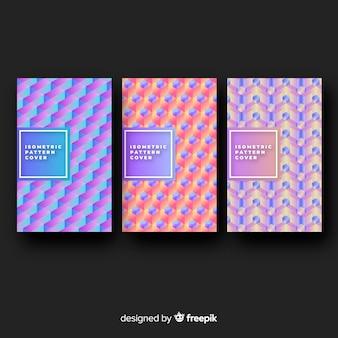 Красочная изометрическая коллекция брошюр