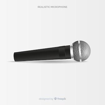 Реалистичный современный микрофон