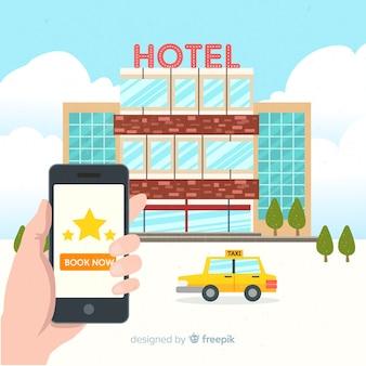 フラットホテル予約アプリケーションの背景