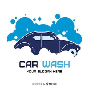 手描きの洗車のロゴの背景