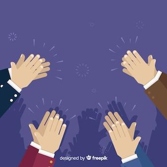平らな手の拍手の背景