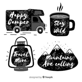 Коллекция рисованной приключений логотипы