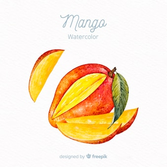 Акварель манго фон