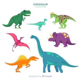 Плоская коллекция динозавров