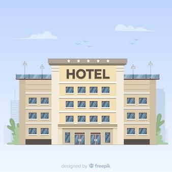 フラットホテルの正面の背景
