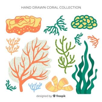 Коллекция рисованной кораллов