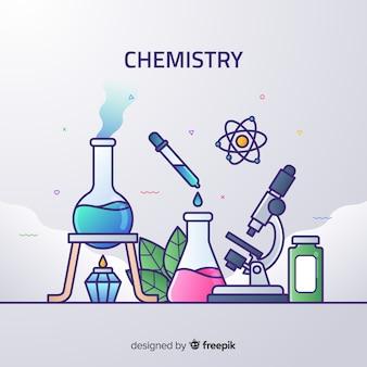 平らな化学のカラフルな背景