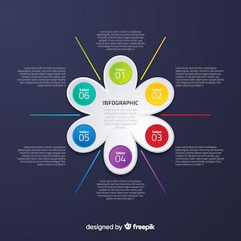 Плоская инфографика с эффектом градиента