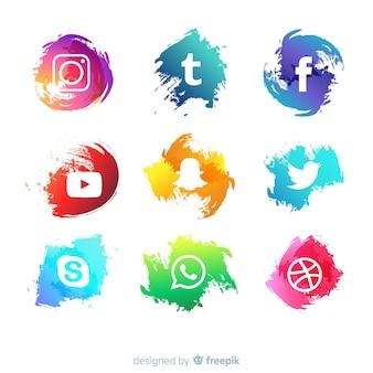 ソーシャルメディアのロゴタイプコレクション