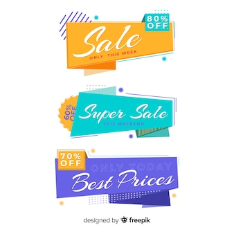 折り紙セールバナーコレクション