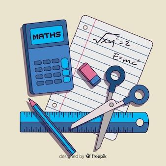 Мультфильм математические элементы фона