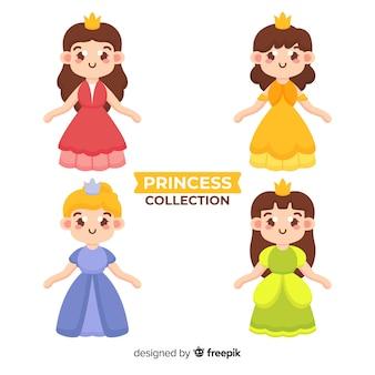 Коллекция рисованной принцессы