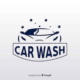 フラット洗車のロゴの背景
