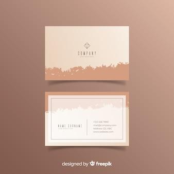 Плоский шаблон визитной карточки