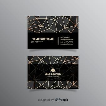 Шаблон геометрической визитной карточки