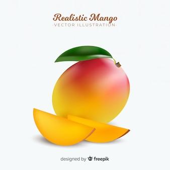 Реалистичная иллюстрация манго