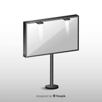 Реалистичный пустой рекламный щит