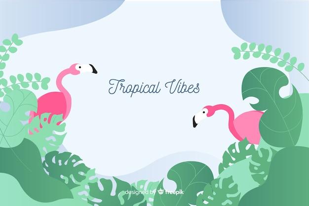 Плоский тропический фон