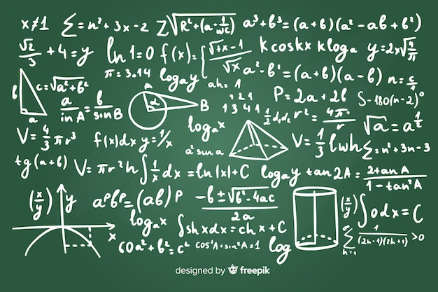 現実的な数学黒板背景